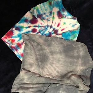 Two tie-dye shirts!